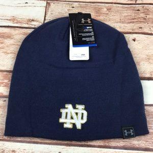 Notre Dame Irish Blue Reversible Beanie Hat Cap